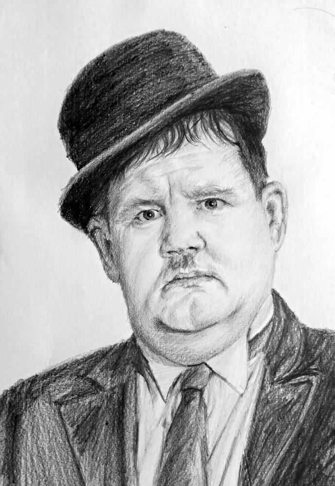 Oliver Hardy by linshyhchyang